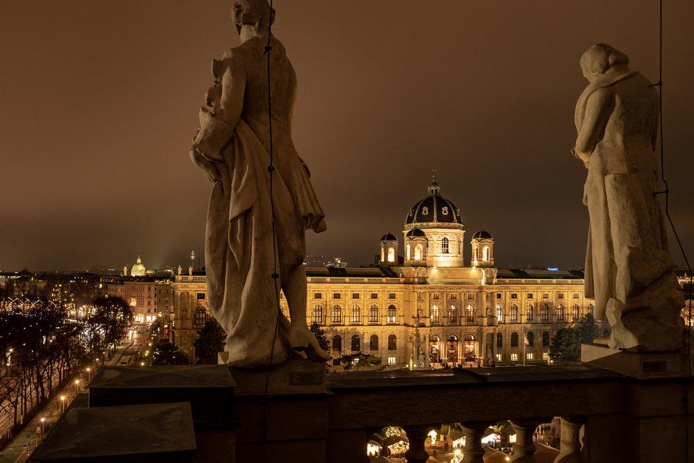 Blick vom Naturhistorischen Museum auf das Kunsthistorische Museum Wien