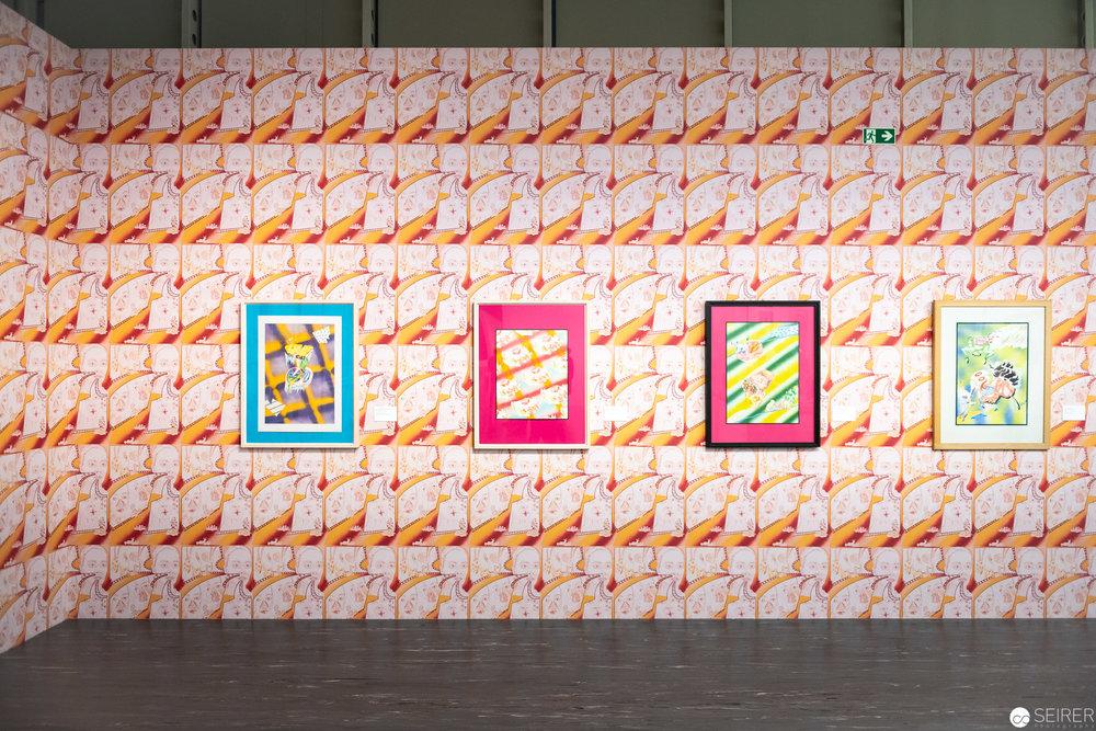 """Ausstellung """"Feuerstelle"""" von Christian Ludwig Attersee im Belvedere21"""