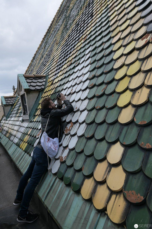 Das Dach bietet einige spannende Motive ;)