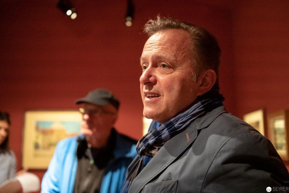 Kurator Christian Bauer in der Schatzkammer des Egon Schiele Museums