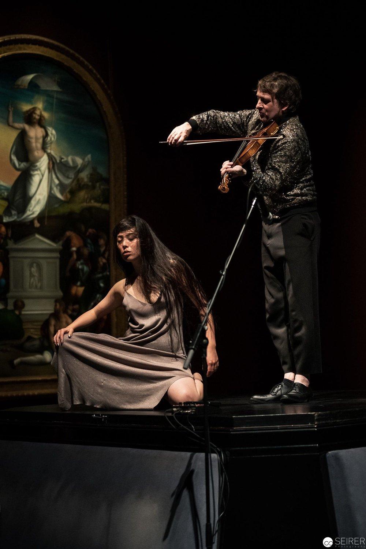 torch song, ruth weiss / Martin Eberle über Hl. Margarete von Raffael, es spielen Klemens Lendi und Manaho Shimokawa