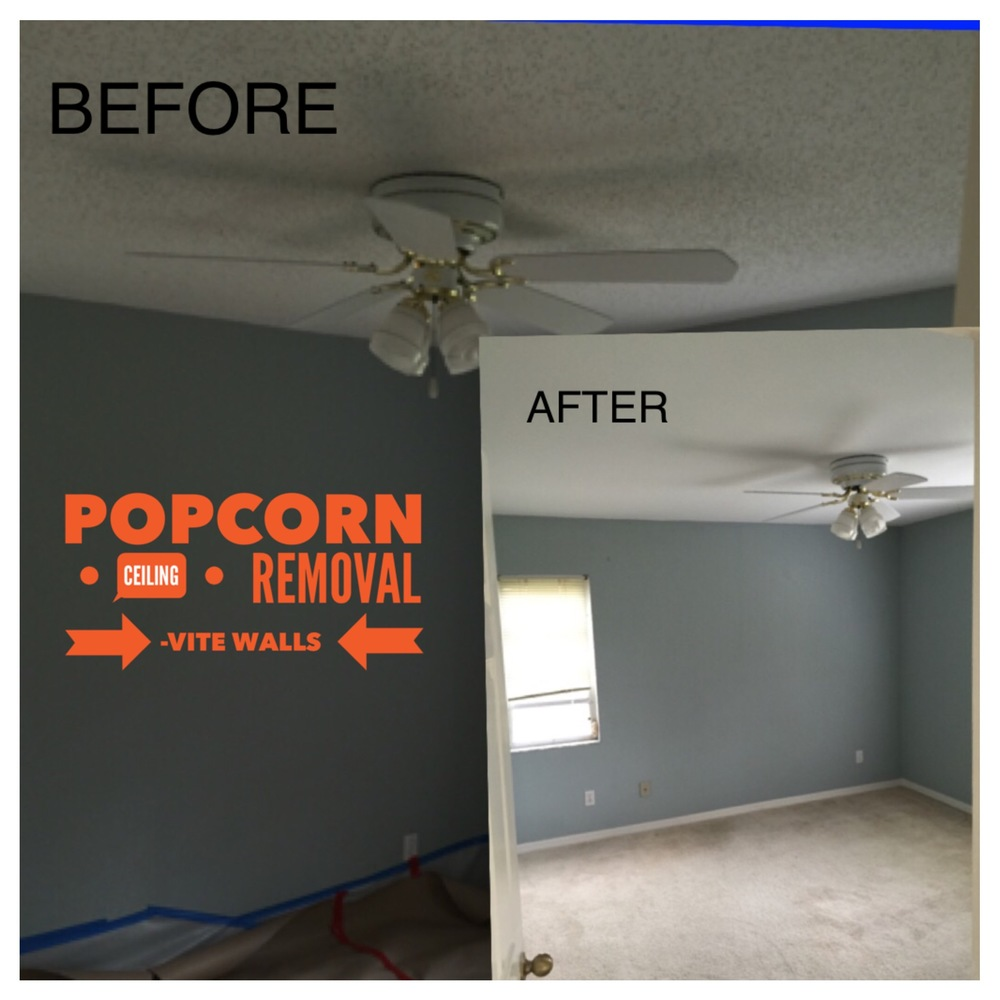 Before And After Popcorn Ceiling Removal Www
