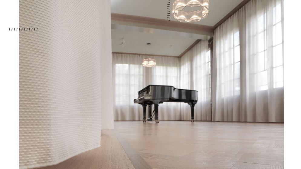 "Die Akustik Vorhang Kollektion ""Silent Space"" von Annette Douglas Textiles"