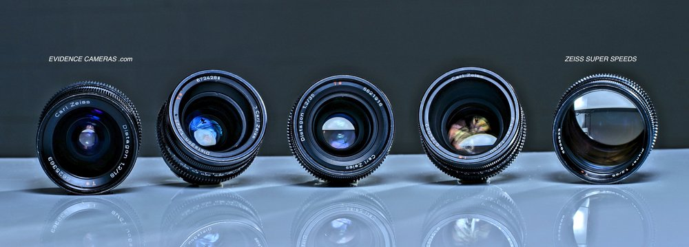 ZEISS SUPER SPEEDS PL T1.3 (SET OF 5)   18mm T1.3, 25mm T1.3, 35mm T1.3, 50mm T1.3, 85mm T1.3
