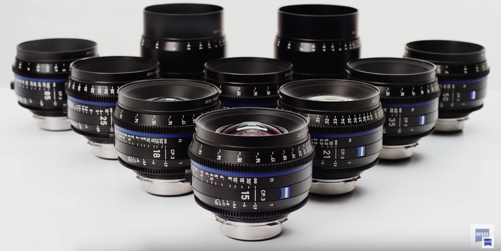 ZEISS CP3 Full Frame PL Mount Prime Set