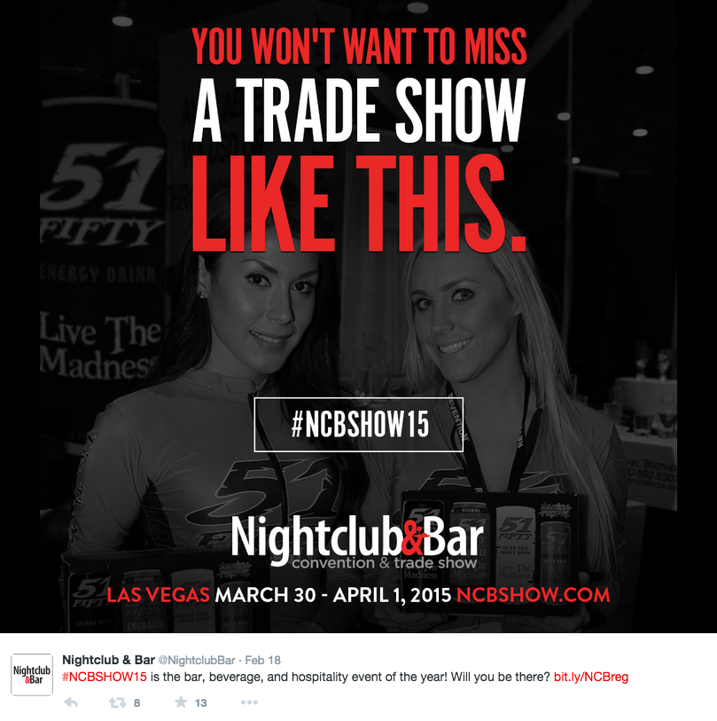 Screenshot of social post promoting the Nightclub & Bar show | @NightclubBar