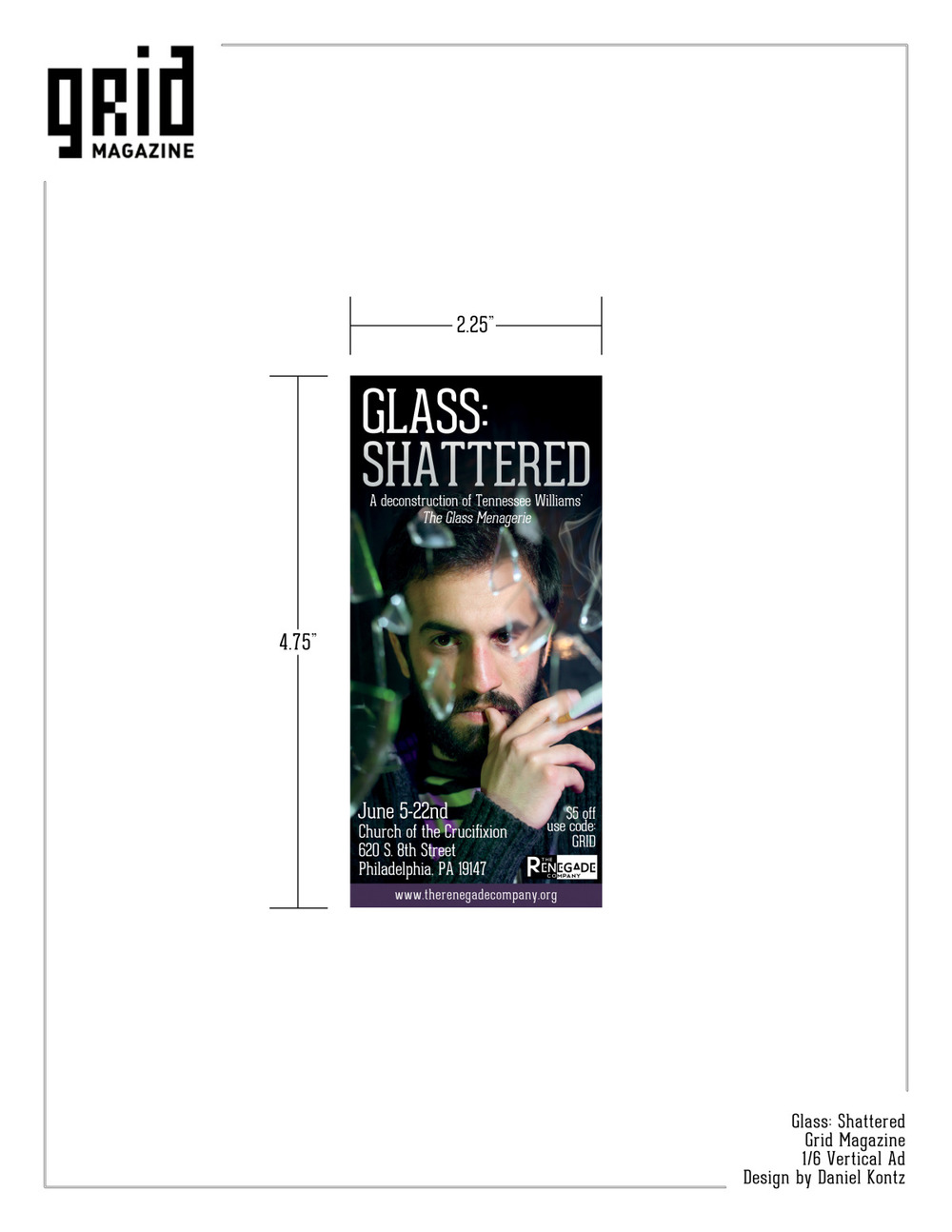Glass: Shattered Grid Magazine Ad