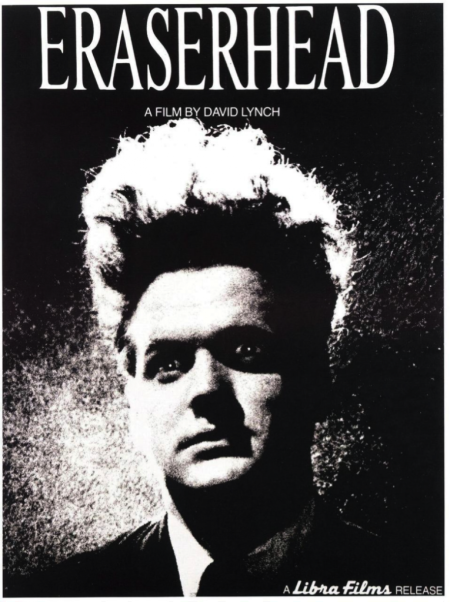 Poster design for Lynch's Eraserhead.