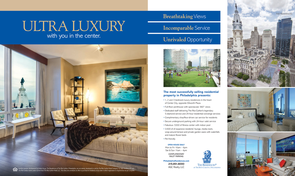 Pages 8 & 9 from the Spring 2014 issue of Philadelphia Lifestyle Magazine. Layout by: Munroe Creative Partners.