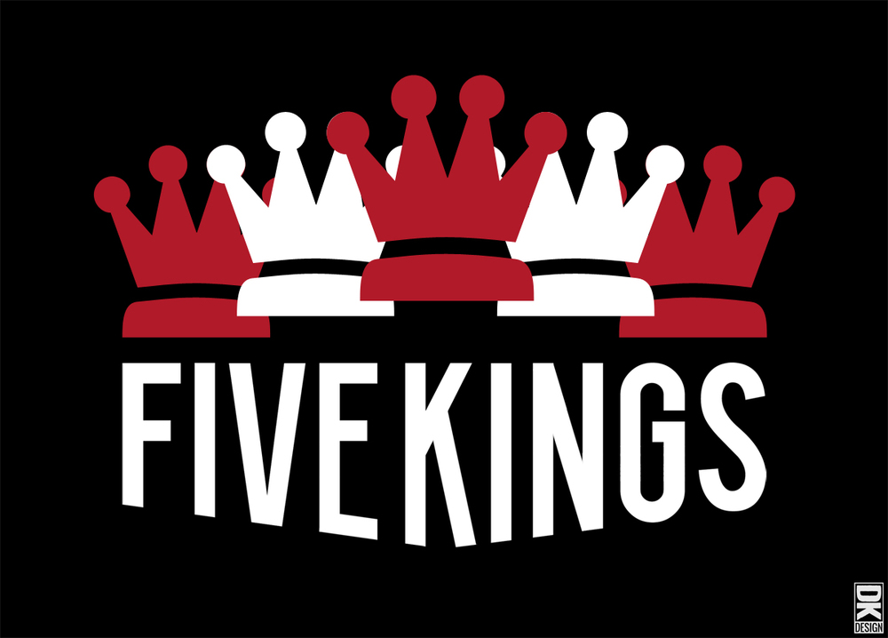 Event graphic for Revolution Shakespeare's upcoming production of Orson Welles'Five Kings-a five-week collaboration with the Philadelphia Museum of Art.