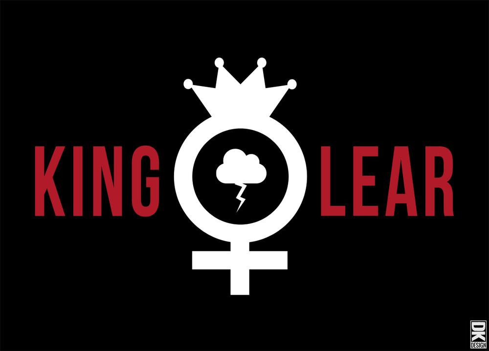 Event graphic for Revolution Shakespeare's upcoming production of King Lear- an all-female staged reading.