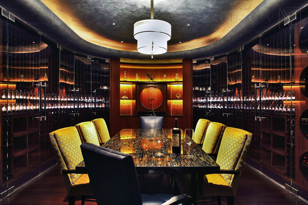 13_Wine Cellar Wine Table Studio V Interiors Scottsdale AZ Greenwich CT.jpg