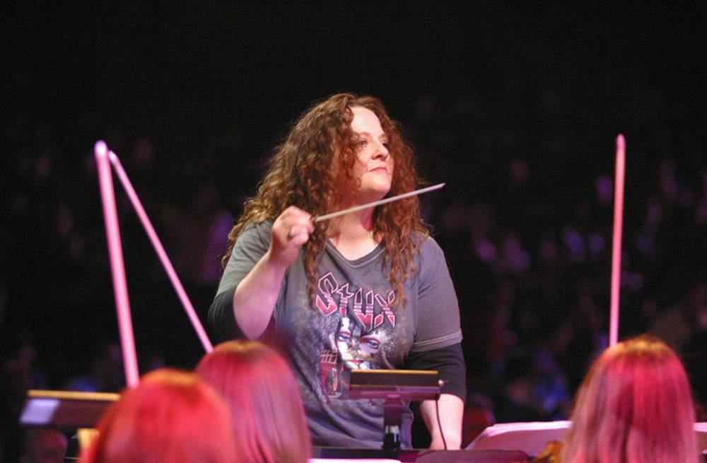 Liza Grossman conducting Styx in 2006.