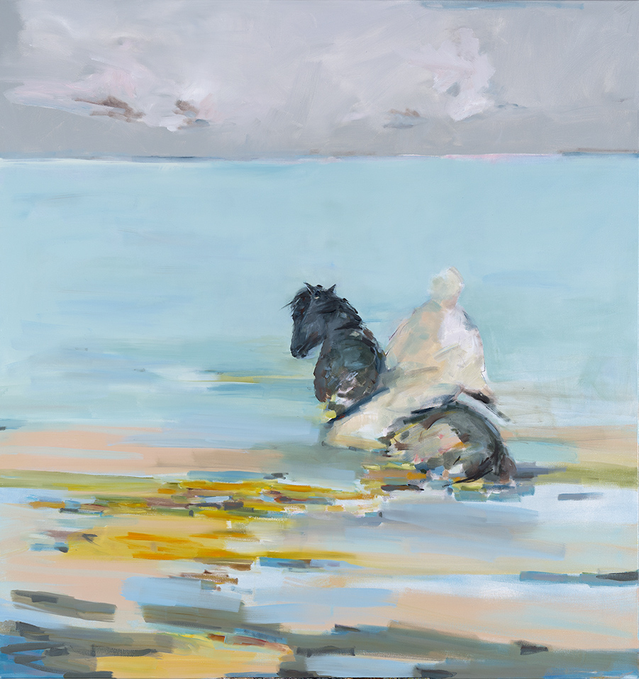 Waters End 2014 Jo Darvall oil on canvas