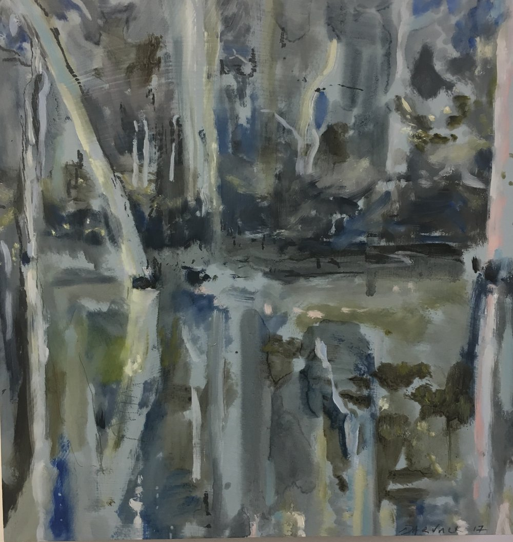 Water Ways #5 2018  oil on board, 41 x 41cm  (enquiries Studio Gallery)