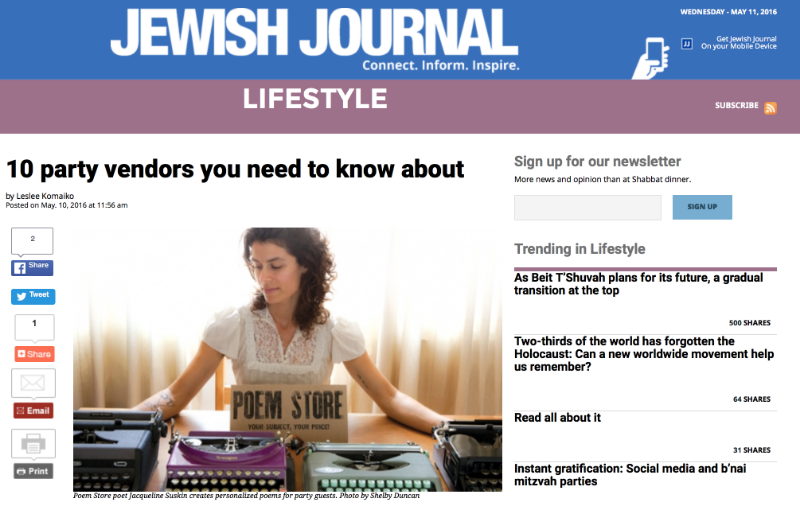 NITROPOD was featured as one of the Jewish Journal's 10 Party Vendors you need to know about