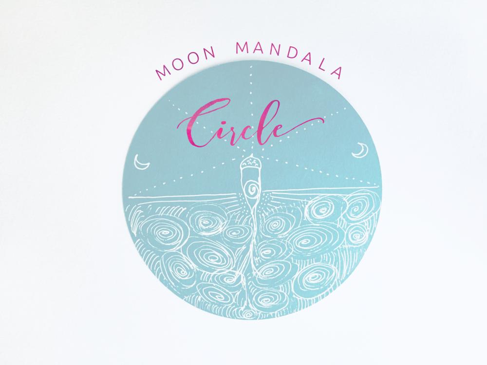 moon mandala circle