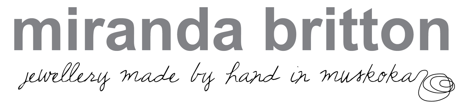 miranda britton | jewellery handcrafted in muskoka