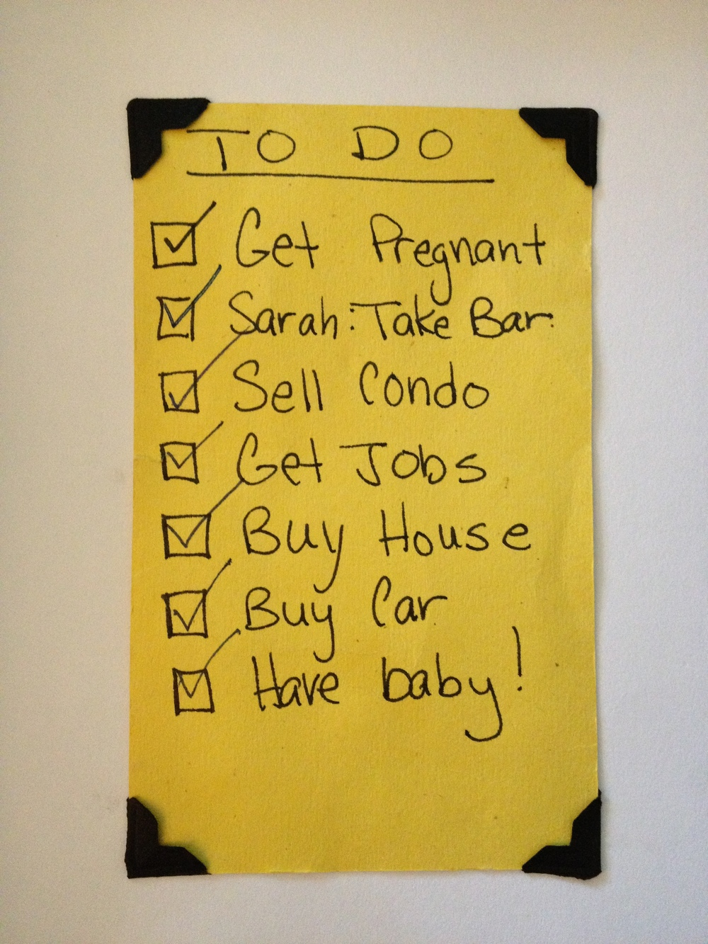 I made this simple to do list to further persuade my husband that this wasn't a major life change but a few minor tweaks.