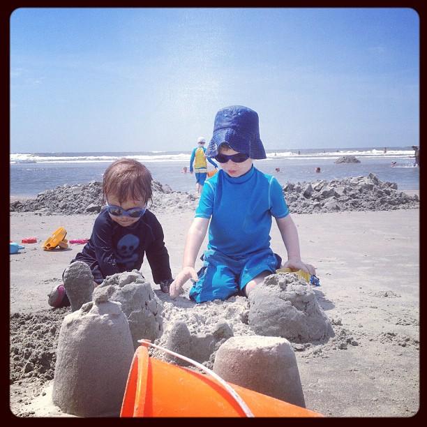 Sand castle - CHECK!