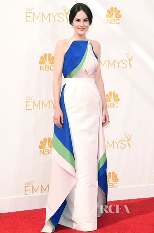 Michelle Dockery in Rosie Assoulin. Image via Tom + Lorenzo.