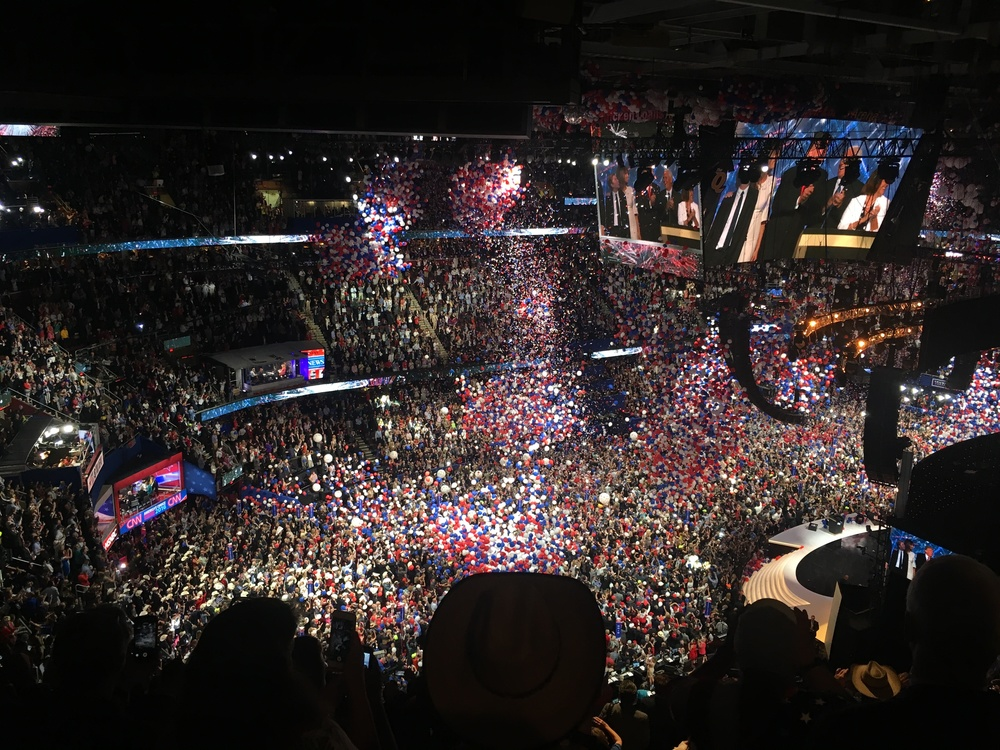 The balloon drop at the RNC