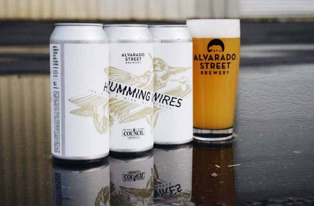 Council Brewing Company and Alvarado Street Brewing Collaboration, Humming Wires, IPA with a Kiss of Tartness.