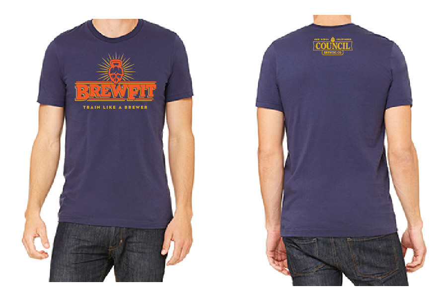 BrewFit T-Shirts will be available for pre-purchase starting 12/28 when tickets for the event go on sale.