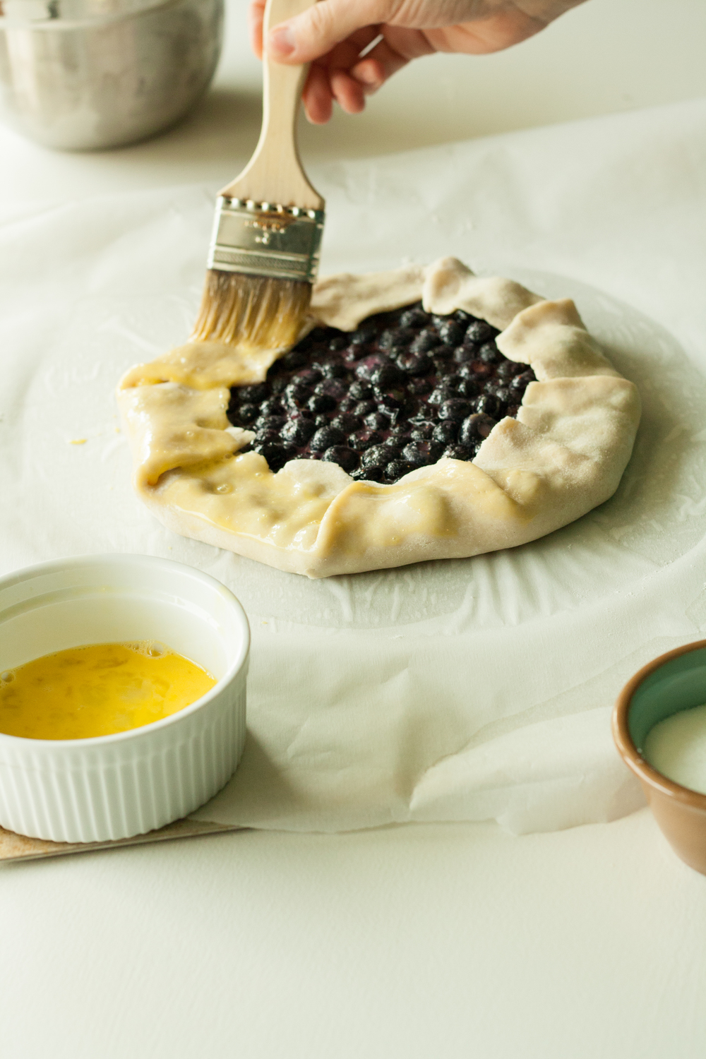 how to make blueberry galette