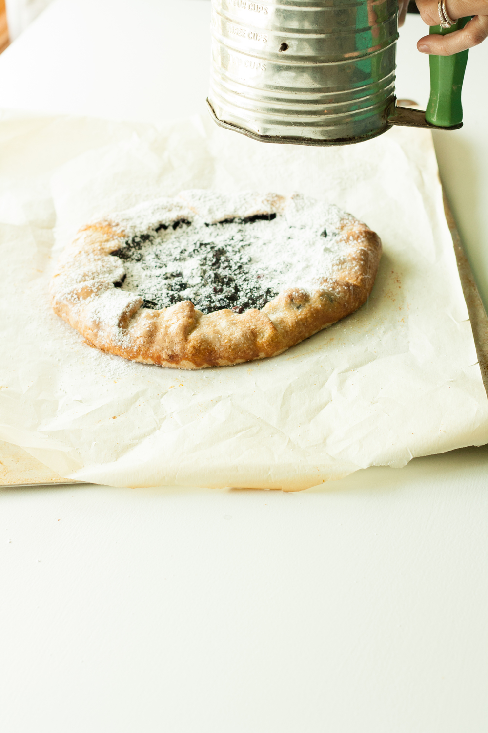 blueberry galette