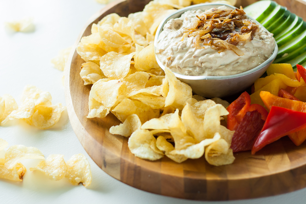 french onion yogurt dip