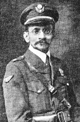 Spectro-Chrome machine Inventor Colonel Dinshah P. Ghadiali (Commander, New York City Police Reserve Air Service - photo, circa 1919).