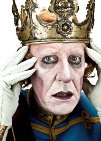 Geoffrey Rush as King Berenger in  Exit the King , 2009.  Photograph by Hugh Hartshorne.