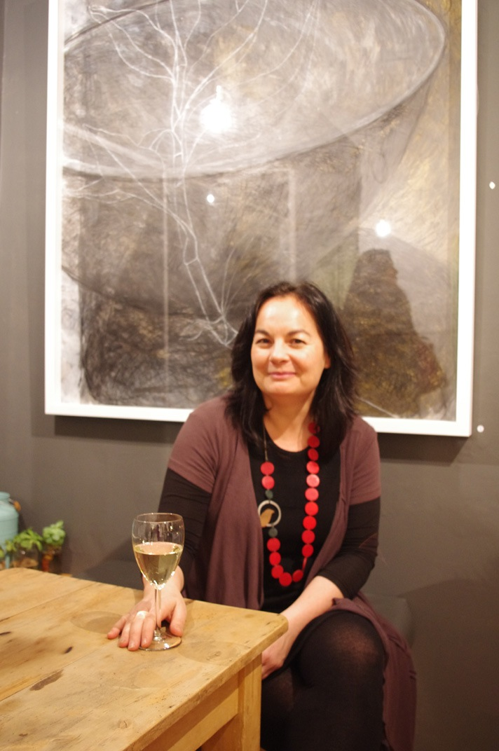 Suzi Ting at her exhibition opening