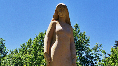 Ola Cohn's sculpture in the Pioneer Women's Memorial Gardens