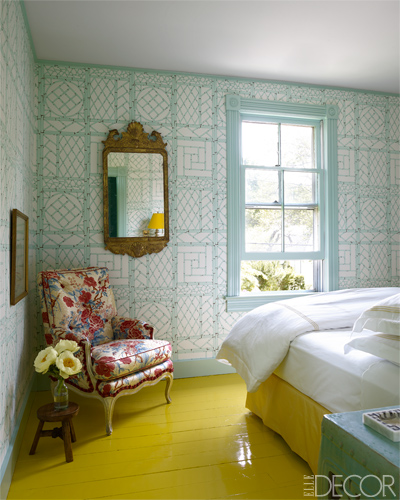 Spring in your step on this yellow floor. Picture: Elle Decor