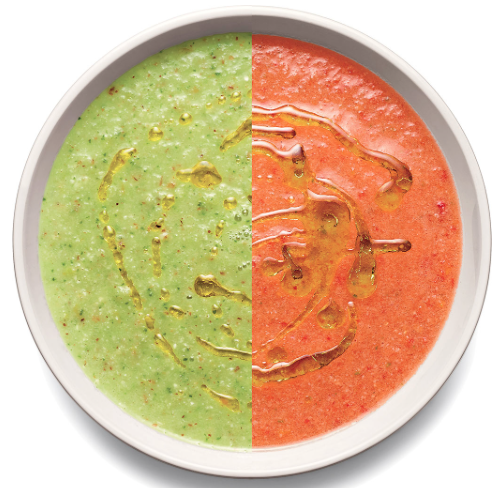 Two kinds of gazpacho courtesy The New York Times