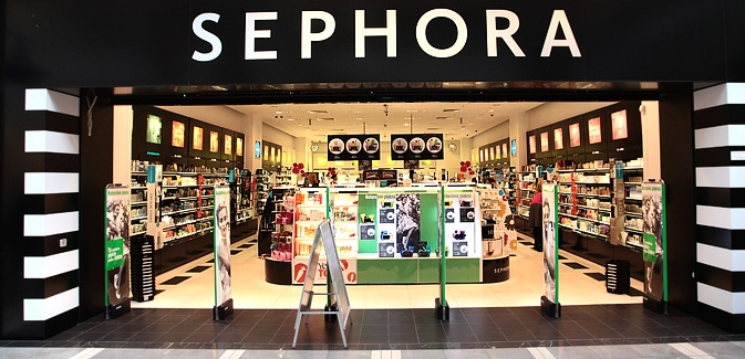 Typical looking Sephora store overseas.