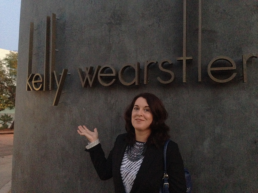 My sister Christine Rady outside one of design fave's studio in Melrose Ave, West Hollywood.