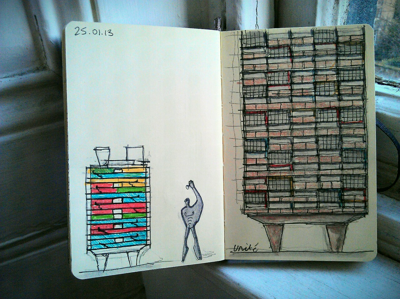 365 drawings later … day 360 … unité