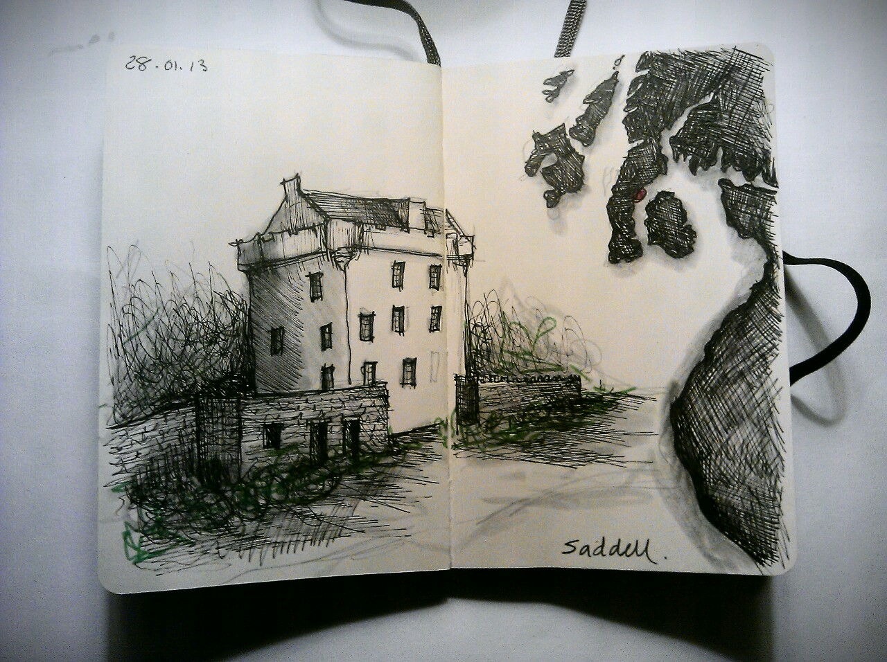 365 drawings later … day 363 … saddell