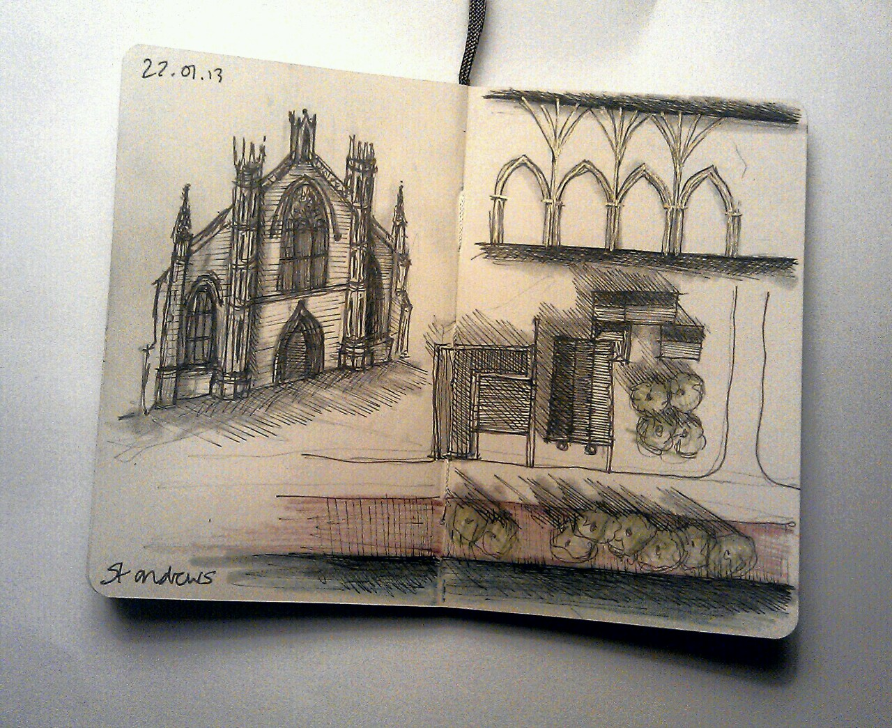 365 drawings later … day 357 … st andrews