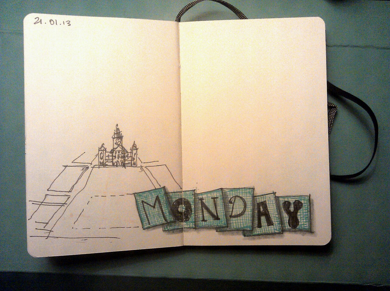 365 drawings later … day 356 … blue monday