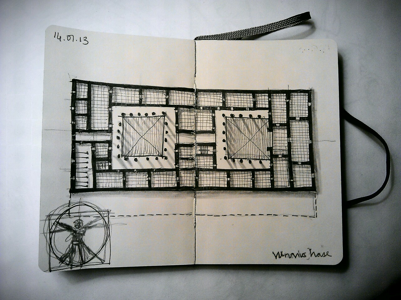 365 drawings later … day 349 … vitruvius house