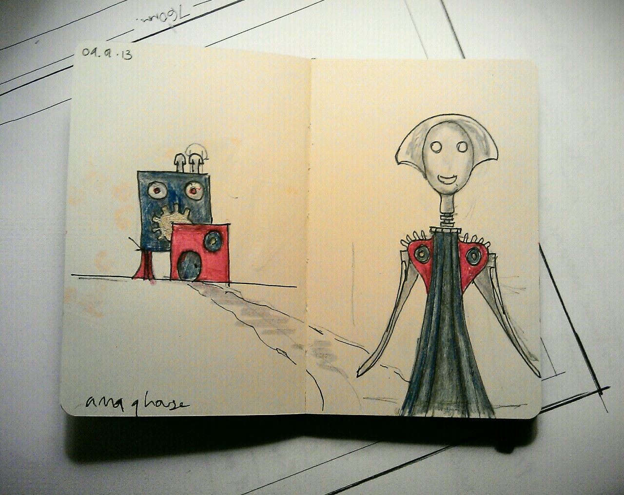 365 drawings later … day 344 … anna g house [if she had one]