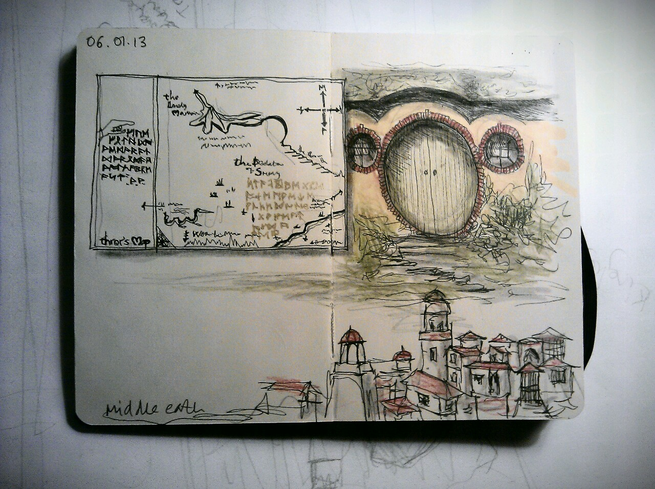 365 drawings later … day 341 … middle earth