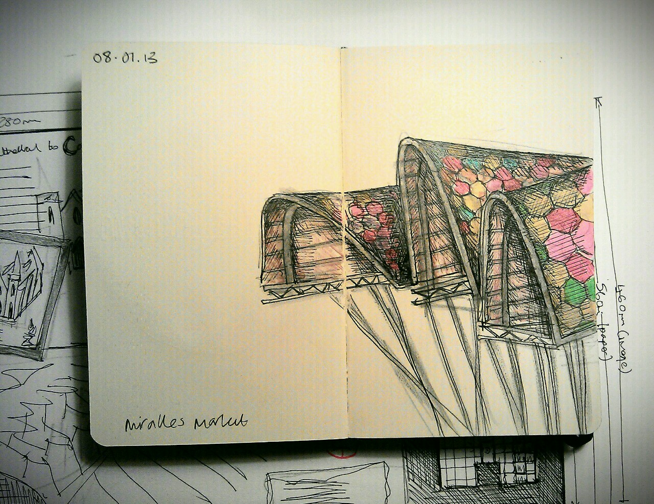365 drawings later … day 343 … miralles market