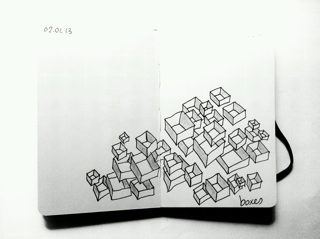 365 drawings later … day 337 … boxes [sometimes you just wanna doodle]