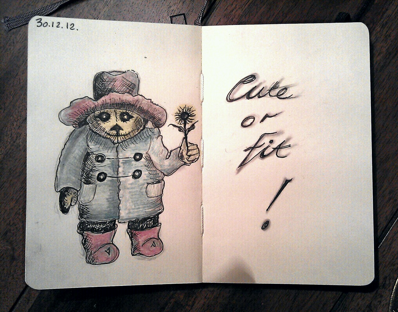 365 drawings later … day 334 … cute [this one was drawn by my mum, who loves paddington bear, and her nickname is daisy]