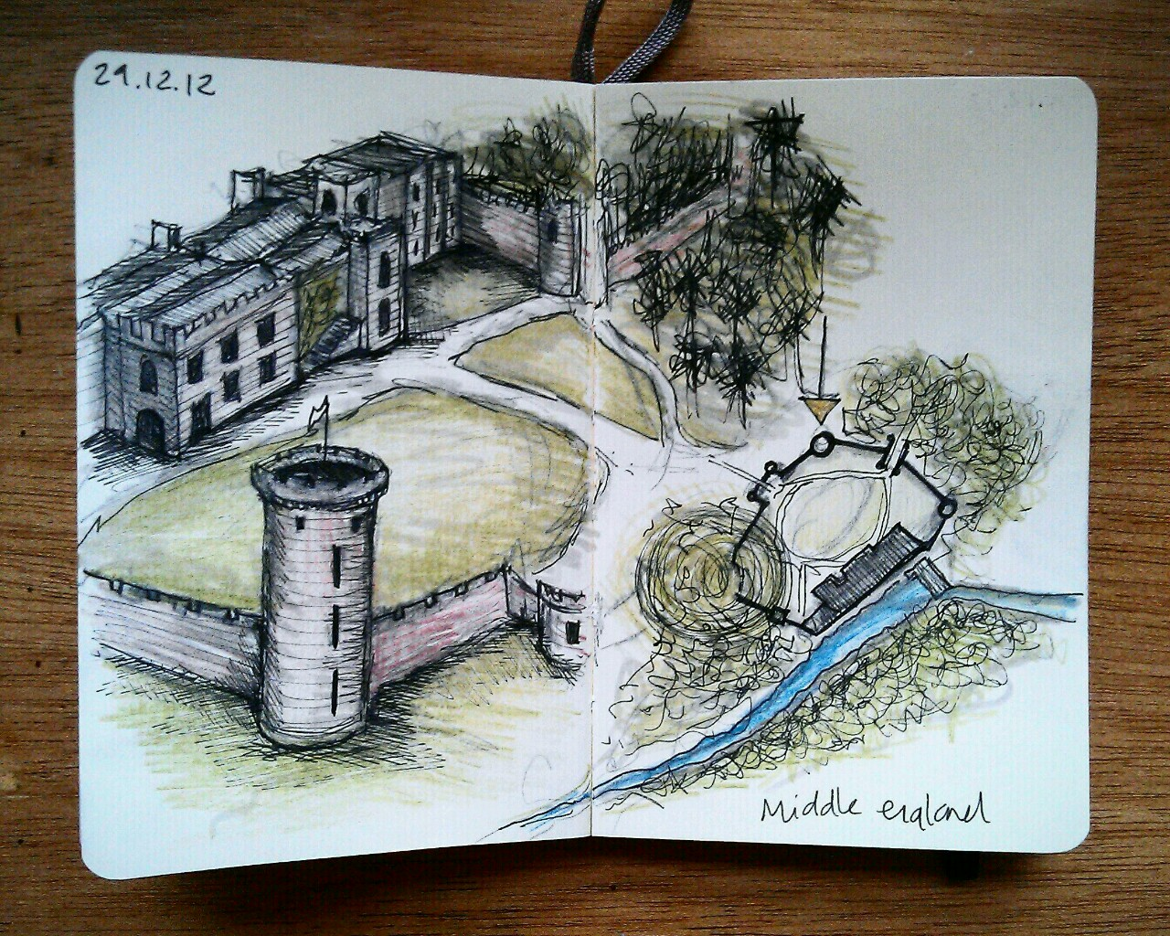 365 drawings later … day 333 … middle england [warwick castle]
